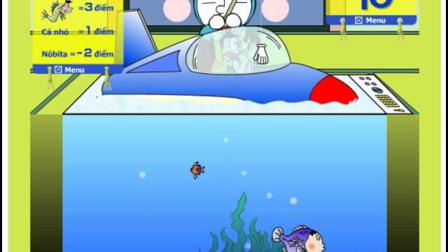 game doremon cung nobita tham gia hoi thi cau ca